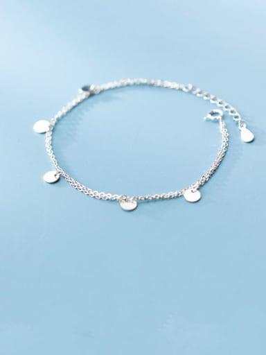 925 Sterling Silver Round Minimalist Strand Bracelet