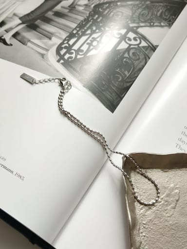 925 Sterling Silver Minimalist  Olive Chain Foot Chain Anklet