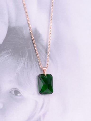 Rose Gold Titanium Square Minimalist Choker Necklace