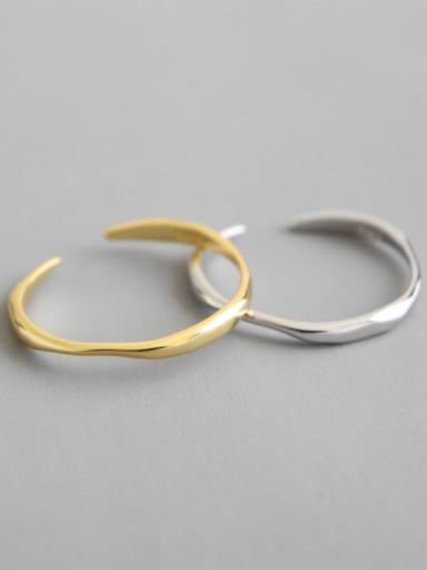 925 Sterling Silver Smooth Round Minimalist  Free Size Midi Ring