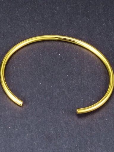 Gold single line Titanium Hollow Round Minimalist Hoop Earring