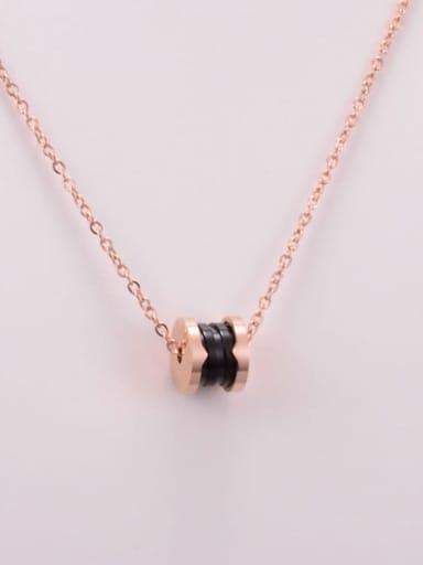 Titanium Black Ceramic Round Minimalist Choker Necklace