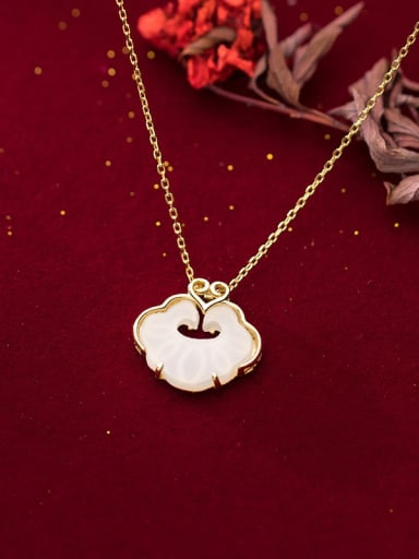 925 Sterling Silver With 14k Gold Plated Vintage Locket Necklaces