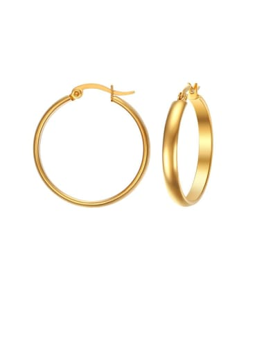 Stainless Steel Hollow Round Minimalist Hoop Earring