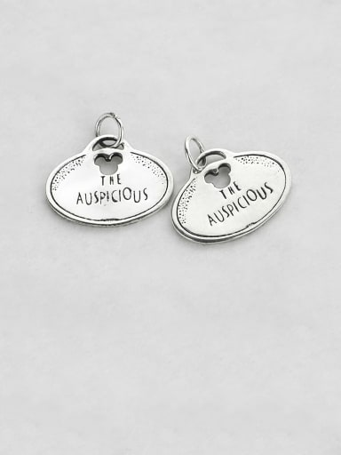 Vintage Sterling Silver With Minimalist Oval Letters Pendant Diy Accessories