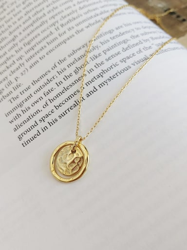 925 Sterling SilverSimple Haigu Stone Rotten Pendant  Necklace