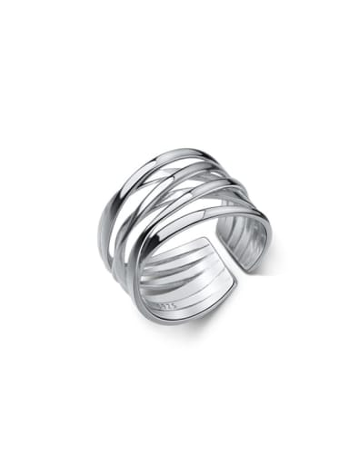 925 Sterling Silver Round Minimalist Stackable Ring
