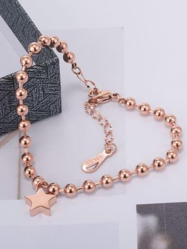 Titanium Pentagram  Trend Beaded Bracelet