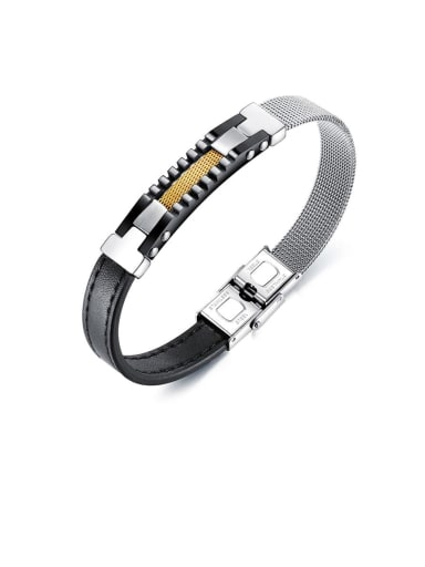 Titanium leather Bracelet