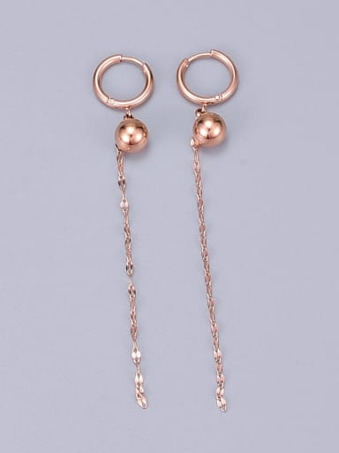 Titanium Ball Minimalist Drop Earring