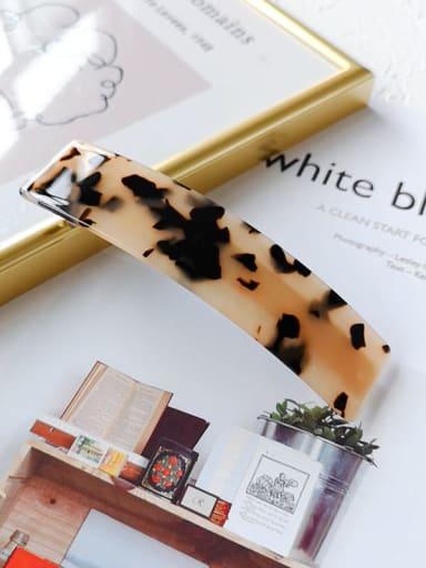 Rice hawksbill 10.2cm Alloy Celulose Acetate Geometric  Hair Barrette