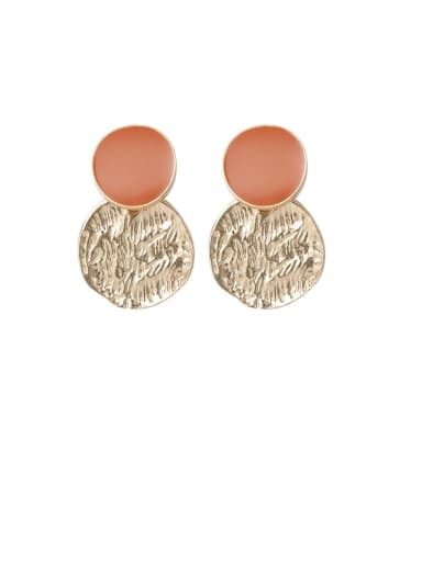 Alloy With Imitation Gold Plated Vintage Round Drop Earrings