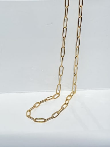 Chain distribution (excluding drop) Stainless steel Geometric Minimalist Necklace