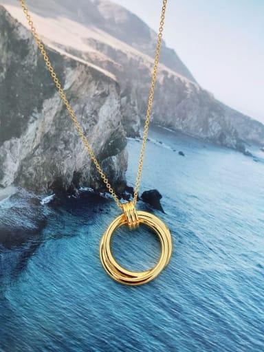 Copper Round Minimalist Choker Necklace