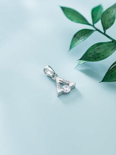 925 sterling silver cubic zirconia  minimalist triangle  pendant