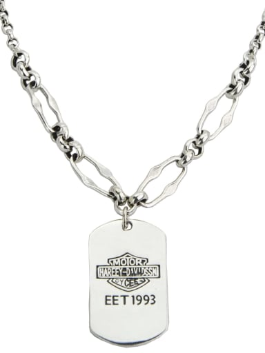 Vintage Sterling Silver With Platinum Plated Fashion Geometric Necklaces