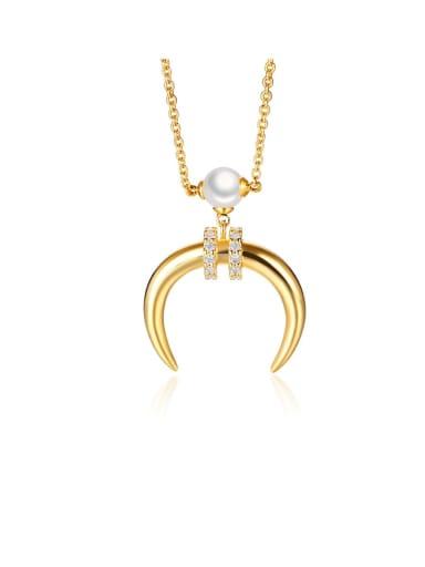 Copper Cubic Zirconia White Necklace