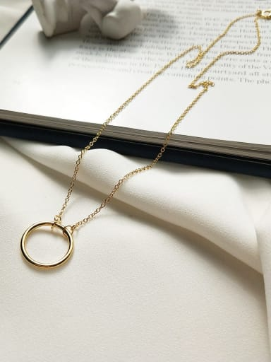 925 Sterling Silver with round/Circle Necklace