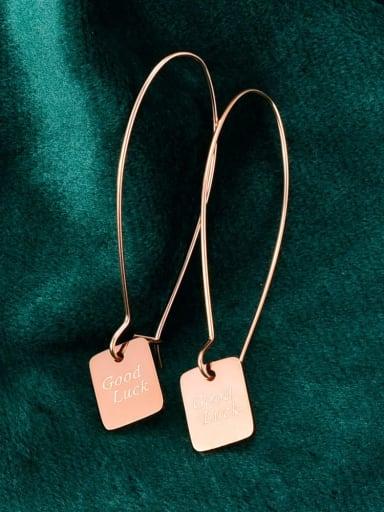 Titanium smooth Geometric Hook Earring