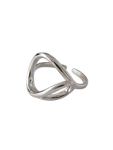 925 Sterling Silver  Minimalist Minimalist lines interwoven Free Size Ring