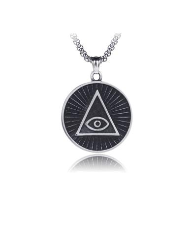 Triangle Titanium Vintage  God's Eye Pendant Pendant