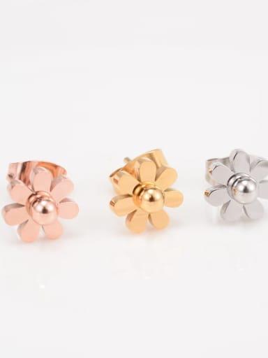 Titanium Flower Minimalist Stud Earring