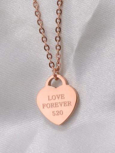 Titanium Heart Letter  Minimalist Choker Necklace
