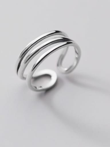 925 Sterling Silver Irregular Minimalist Stackable Ring