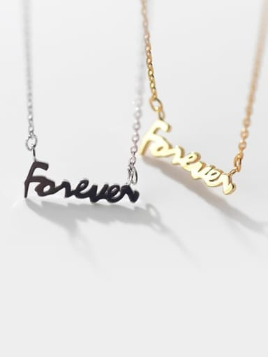 925 Sterling Silver Letter Minimalist pendant  Necklace