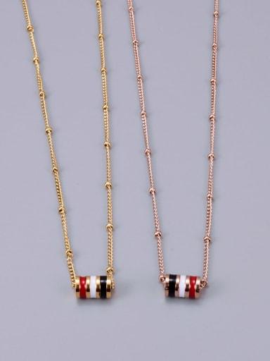 Titanium Enamel Round Ethnic Necklace