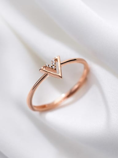 925 Sterling Silver Shell Triangle Minimalist Band Ring