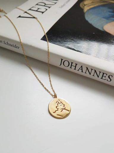925 Sterling Silver Round face Trend Initials Necklace