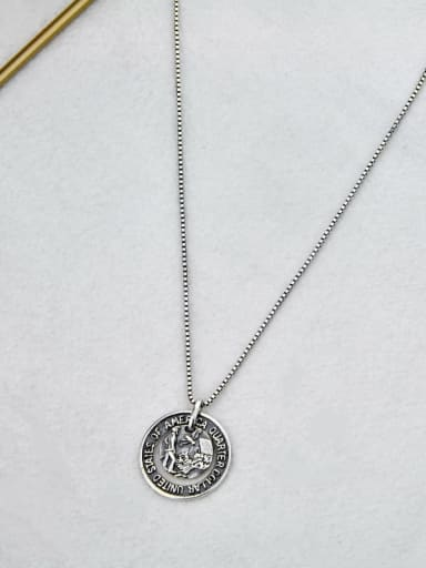 necklace Vintage Sterling Silver With Vintage Round Pendant Diy Accessories
