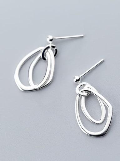 925 Sterling Silver Hollow Irregular Minimalist Earring