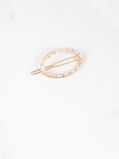 E Oval (gold) Alloy With Rose Gold Plated Fashion Geometric Hair Pins