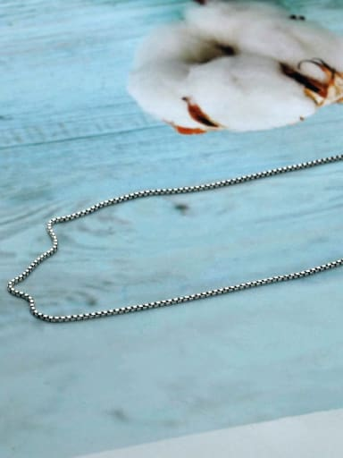 925 Sterling Silver With Antique Silver Plated Simplistic Chain Necklaces