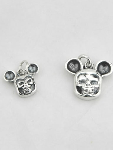 big Vintage Sterling Silver With Vintage Mickey Mouse Pendant Diy Accessories