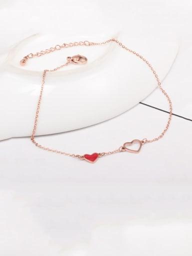 Titanium  Heart Minimalist Anklet