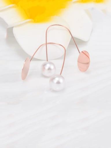 Titanium Irregular Minimalist Hook Earring