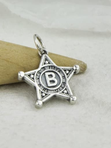 No. 1 DJ122 Vintage Sterling Silver With Vintage Geometry Pendant Diy Accessories