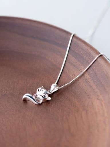 925 Sterling Silver Minimalist Fox  Pendant