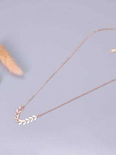 Titanium Leaf Minimalist pendant Necklace