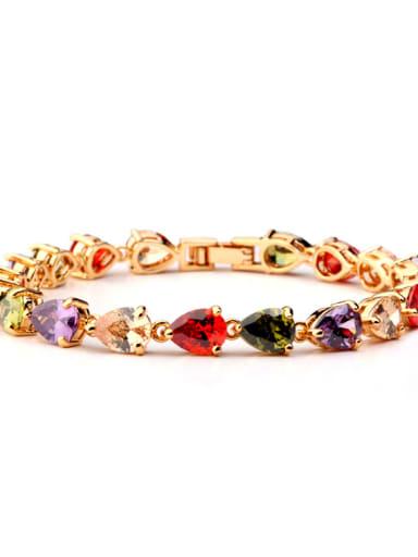 Copper Cubic Zirconia Heart Luxury Bracelet