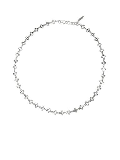 925 Sterling Silver Cross Vintage Necklace