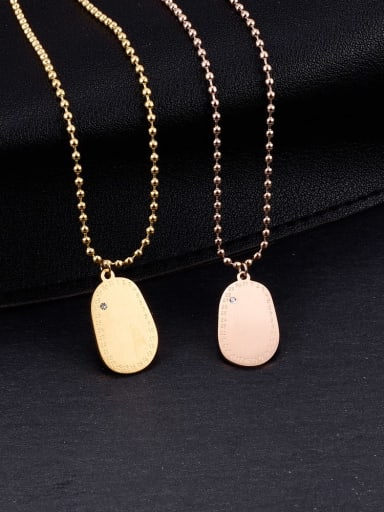 Titanium Oval Minimalist pendant Necklace