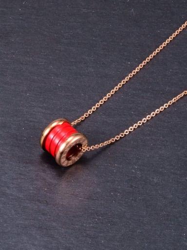 Titanium Enamel Geometric Minimalist pendant Necklace