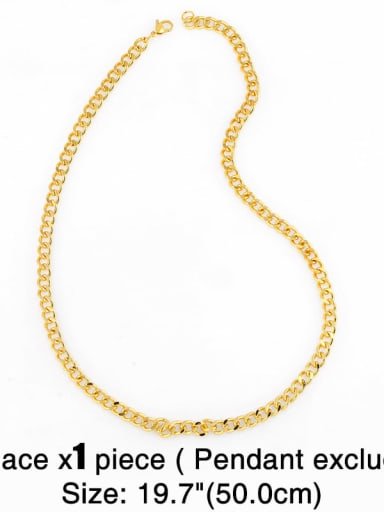 Chain 19.7 inch (50cm) Copper Cubic Zirconia Dainty Letter Pendant