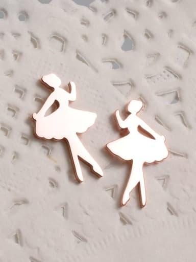 Titanium Angel Minimalist Stud Earring