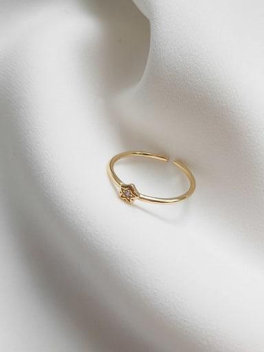 Small zircon line ring J 653 925 Sterling Silver Flower Minimalist Midi Ring