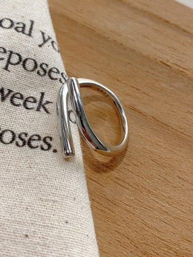 925 Sterling Silver Minimalist   Irregular Free Size Ring